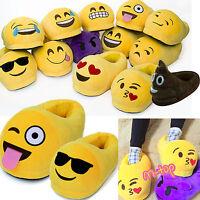 Unisex Herren Damen 3D Emoji Hausschuhe Schlappen Winter Warme Plüsch Pantoffeln