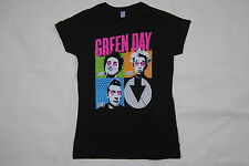 GREEN DAY CROSS EYES UNO DOS TRE LADIES SKINNY T SHIRT NEW OFFICIAL DOOKIE PUNK