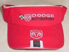 DODGE MOTORSPORTS NASCAR RACING VISOR RED NWT