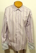 men's TED BAKER lavender 100% cotton shirt FRENCH CUFFS button-up - size 17.5