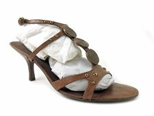 Nine West Women's Robertao Ankle-Strap Sandals Butter Nut Leather Size 11 M