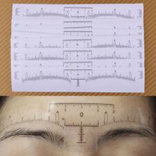 50pcs Disposable Eyebrow Ruler Sticker Microblading Shaper Measure Makeup Tool
