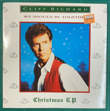 "Cliff Richard – We Should Be Together: Christmas E.P. 7"" Vinyl EMI XMAS 91 1991"