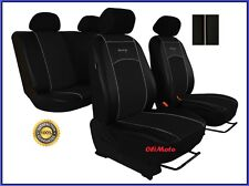 Universal Black Eco-Leather Full Set Car Seat Covers fit Toyota Prius