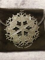 1974 MMA Sterling Silver Snowflake Christmas Ornament 3 3/8""