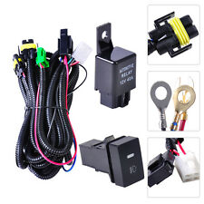 For H11 Fog Light Ford Focus Acura Nissan Wiring Harness Sockets & Switch Relay