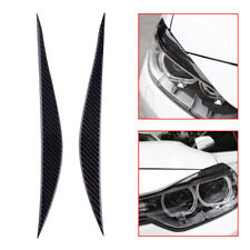 Carbon Fiber Headlight Eyebrows Eye Lid Sticker For BMW 3 Series F30 2013 - 2017