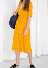 NewParis Atelier & other stories yellow floral wrap dress  women's size US 10