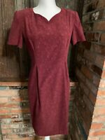 Vintage SAG Harbor Petite Maroon Floral Dress - 8P