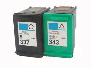 Set für HP 337 & 343 Druckerpatrone für Photosmart 4180 C4180