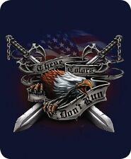 Queen Eagle Honor Patriotic US Flag Sword Link Mink Faux Fur Blanket Super Plush
