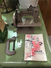 VINTAGE BEIGE SINGER SEWHANDY MODEL 20 ORIGINAL TOOLS INSTRUCTIONS AND BOX