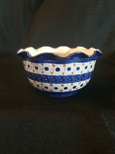 "Pottery 6"" Stoneware Bowl  Boleslawiec Style  - MADE IN GERMANY"
