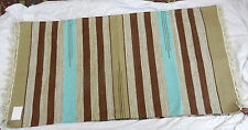 "Hand Woven 100% Cotton Kilim Rug - BNWT - 27"" x 54"" / 69cm x 137cm (D)"