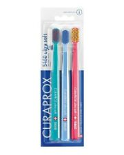 Trio pack of CURAPROX CS 5460 Toothbrushes Ultra Soft Tooth Brushes Swiss