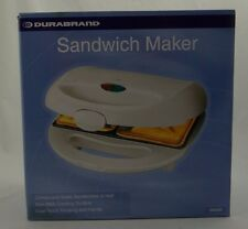 DURABRAND ~ SANDWICH MAKER (Crimps and Seals Sandwich in Half) ~ SM305 White~NEW