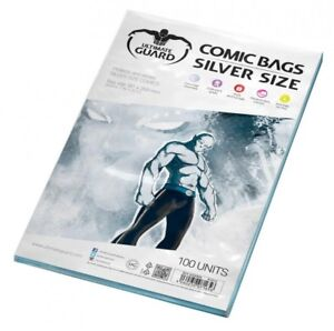 Ultimate Guard Pack 100 Pockets Comics Silver Size 7 1/8x10 9/16in Bags 71656