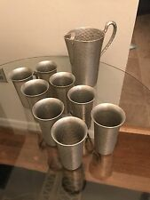 Vintage Everlast Hand Forged Aluminum Pitcher and Cups