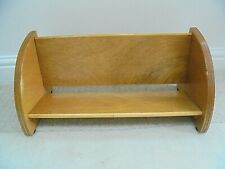 Vintage  book trough shelf, mid century, 1960s 5 layer thick beech ply