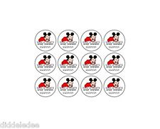 216 Boy Mickey Mouse Baby Shower Hershey Kiss Label Sticker Favors Personalize