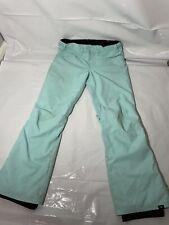 New listing Roxy Womans Snowboard Mint Blue Pants Size M Dryflight Technology 10K