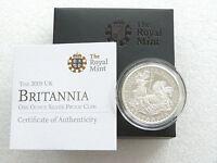 2009 Great Britain Britannia £2 Two Pound Silver Proof 1oz Coin Box Coa