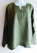 Moroccan Kaftan Top, Indian Tunic, summer blouse, sheer cotton Beach coverup
