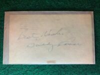 Buddy Rosar Autographed 1952 Government Postcard GPC Index Card Guaranteed