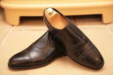 Alfred Sargent 'Carlton'  Men's Black Leather Loafers Shoes UK 7