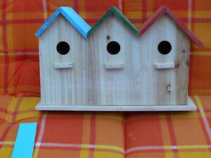 3er Vogelhaus ca. 43x 12x 25cm,leicht beschädigt oben links.dehalb sehr günstig