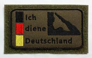 Patch Bundeswehr, Reservisten, Soldat, Ich diene Deutschland