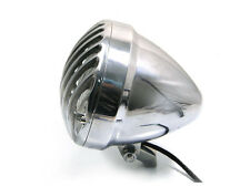"6 1/2"" Prison Headlight Polished Aluminium For Harley Chopper HOG Custom Project"