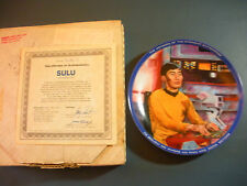 "STAR TREK Collector Plate -""SULU"" - #0781-S, Hamilton Collection -1983"