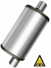 Universal Stainless Steel Straight Through Perforated Performance Muffler 25