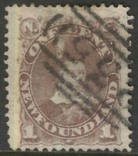 NEWFOUNDLAND 41 1880 1c VIOLET BROWN PRINCE OF WALES VF WITH 235 CANCEL