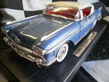 Road Legends 1958 Cadillac Eldorado Seville Diecast model Car 1/18 Blue