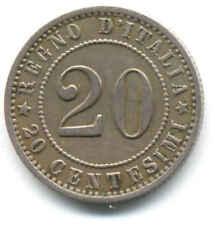 RE UMBERTO I 20 CENTESIMI VALORE 1895 ROMA MONETA REGNO ITALIA