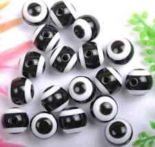 20pcs black color Acrylic evil eyes nice beads Findings 10MM SH1059