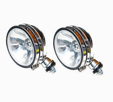"2x HID off road 6"" round light spot 4x4 xenon chrome roof rack bar truck rv race"