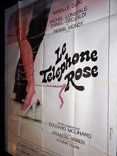 LE TELEPHONE ROSE edouard molinaro P. Mondy M. Darc affiche cinema 1975