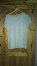C&A Damen T-Shirt – L – neu ohne Etikett - grau - anliegend