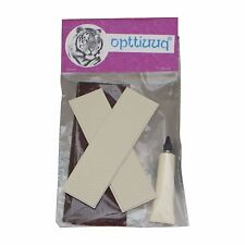 Opttiuuq FrontFoot Cricket Bat Toe Guard Repair Set. White