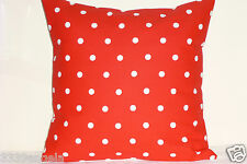 """16"""" NEW CUSHION COVER SHABBY POLKA DOT CHIC DOTTY BRIGHT RED CRIMSON COUNTRY"""