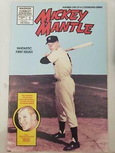 BASEBALL'S GREATEST HEROES MICKEY MANTLE #1 (1991) MAGNUM COMICS JOE SINNOTT ART