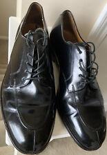Cole Hann Size 10 Mens Classic Patent Leather Black Cap Dress Shoe