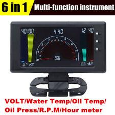 "5 "" Racing meter 6 in 1 Auto Gauge VOLT Water Temp Oil Temp Oil Press RPM Clock"