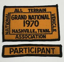 NATVA GRAND NATIONAL CLOTH PATCH-1970 NASHVILLE TN, with Participant Patch