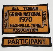 Natva Grand National Cloth Patch-1970 Nashville Tn, with Participant Patch