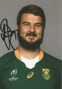 SOUTH AFRICA RUGBY: LOOD DE JAGER SIGNED 6x4 WORLD CUP PORTRAIT PHOTO+COA*PROOF*