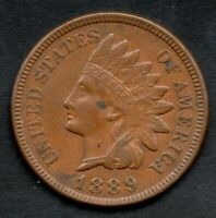 1889 SNOW 1 Indian Head Cent Penny!!!!